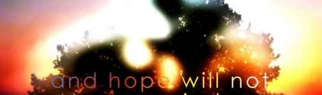 hope does not disappoint us, romans 5.5 (photo by Jason A. Samfield, Creative Commons)