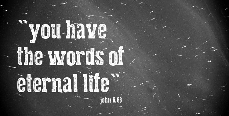 you have the words of eternal life (photo; Ibraham Lujaz, Creative Commons)